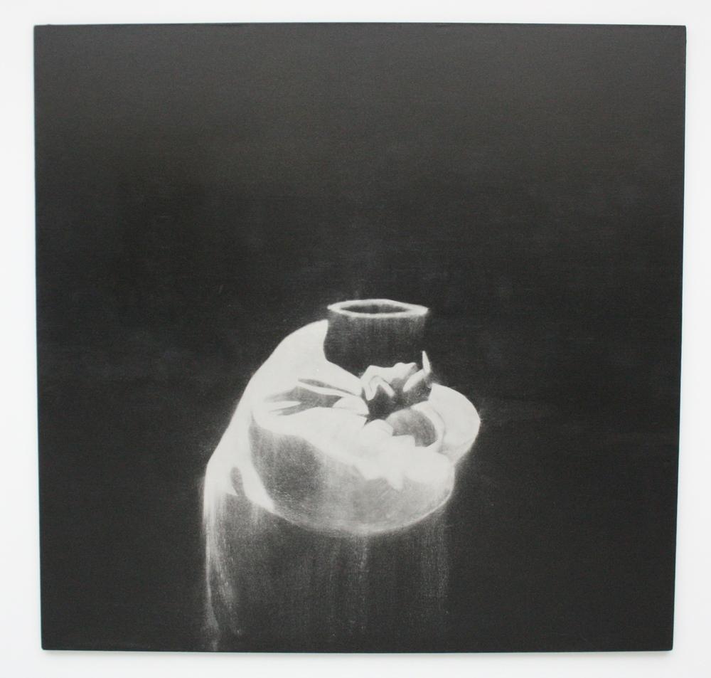 Petr Nikl, Schoulený, 2013, 190 x 195 cm, olej na pl., hliníkový pigment