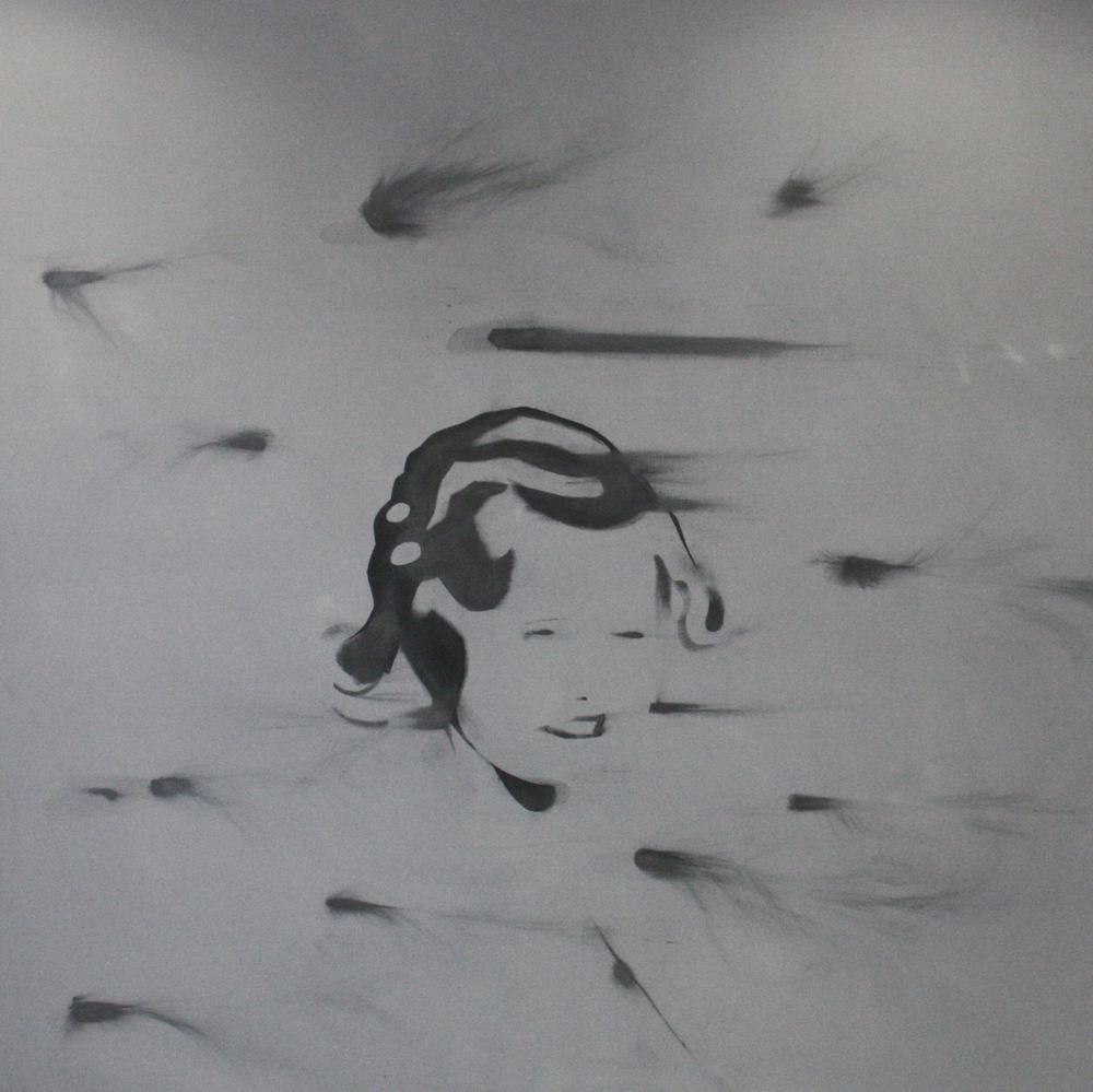 Petr Nikl, Ve větru, 2013, 200 x 200 cm, olej na pl.,