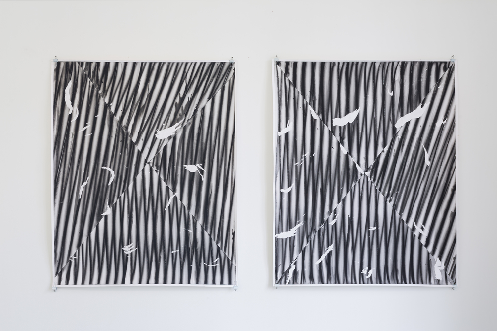Tomek Baran, untitled, 2012, kvaš na papíře, 135 x 100 cm, 3x