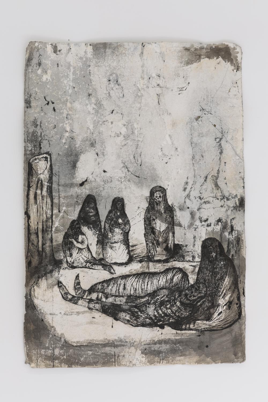 Josef Zlámal, bez názvu, 2010, tuš na ručním papíře, 70 x 100 cm
