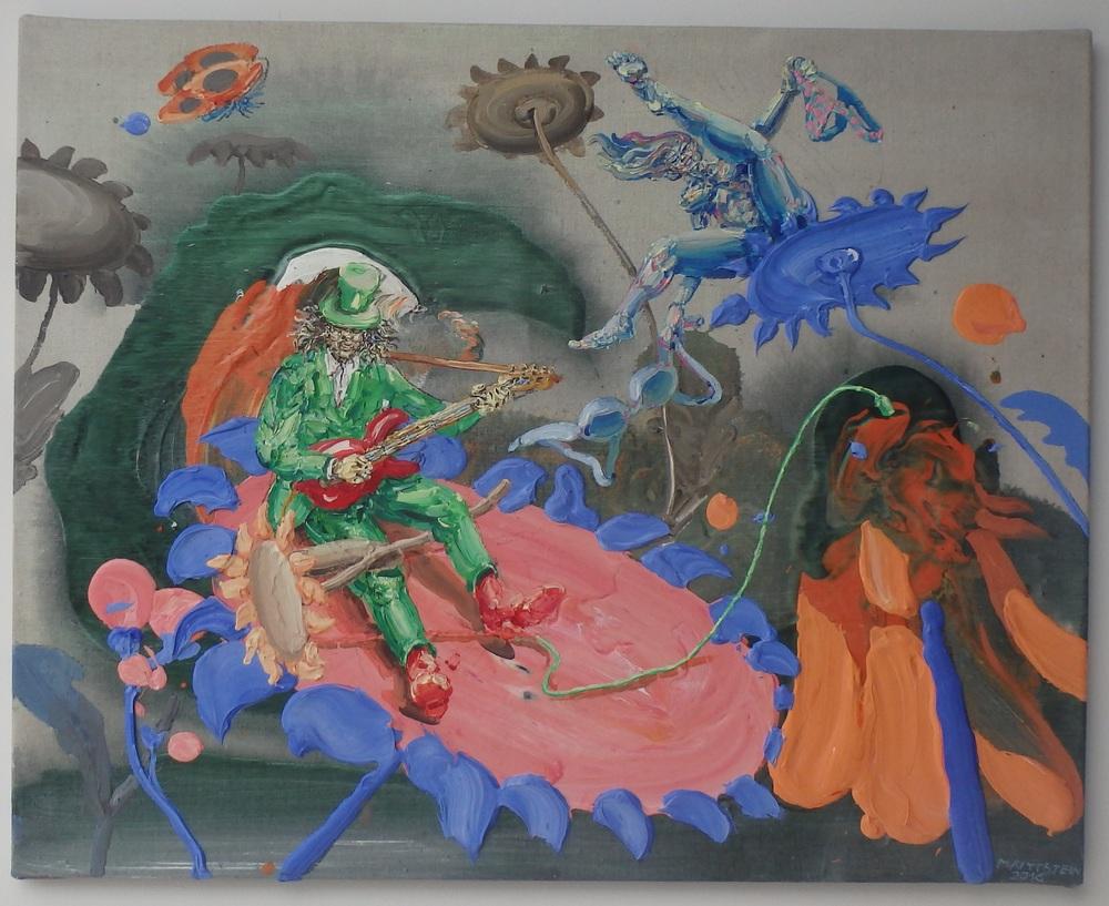 Michael Rittstein, Kytky, 2016, plátno, akryl, 100 x 80 cm