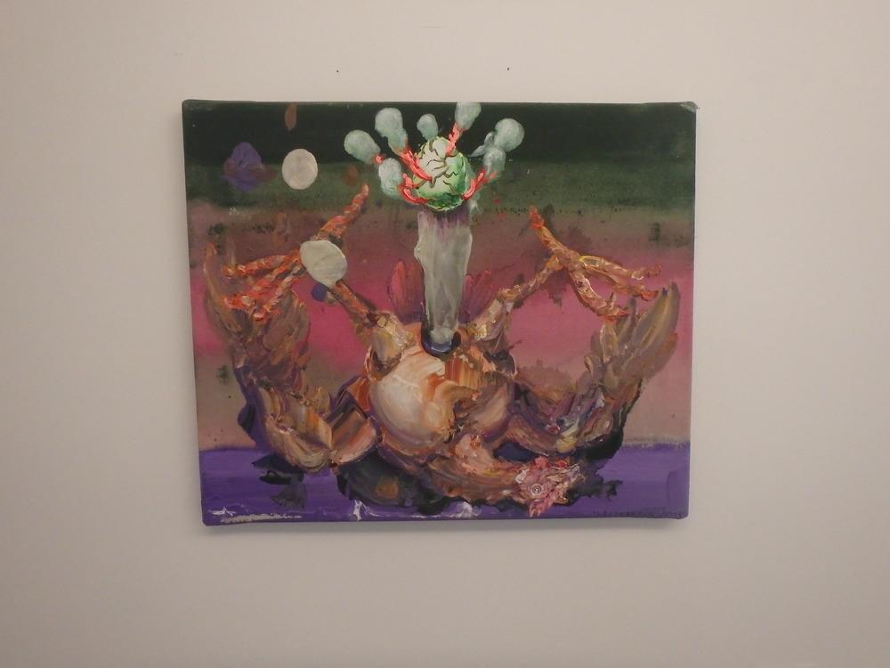 Michael Rittstein, Zrození, 2015, plátno, akryl, 60 x 50 cm