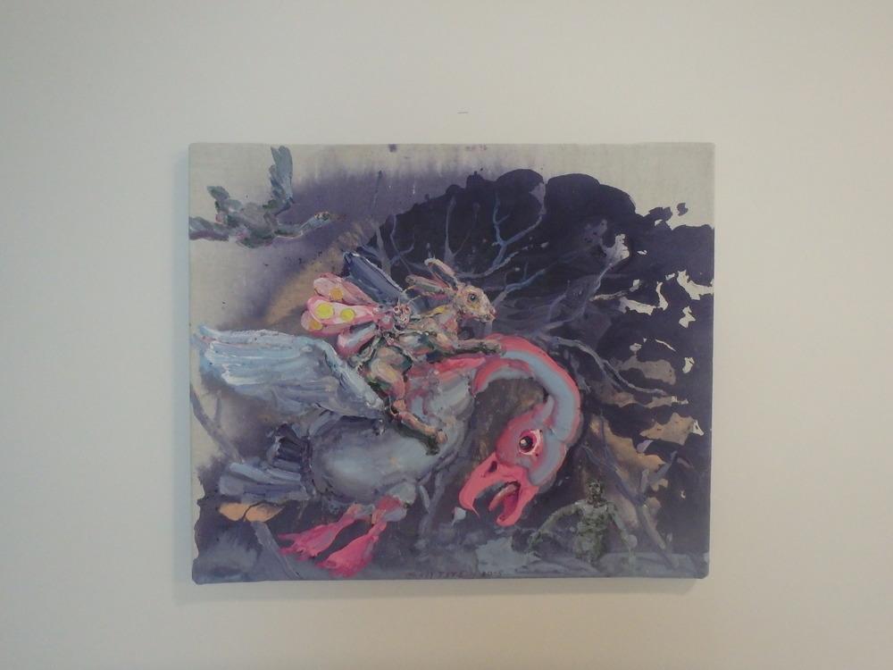 Michael Rittstein, I tak možno, 2015, plátno, akryl, 60 x 50 cm