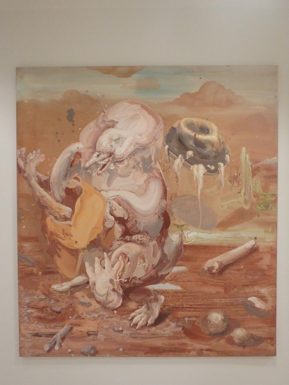 Michael Rittstein, Záblesk spontánní radosti, 2012, plátno, akryl, 160 x 180 cm
