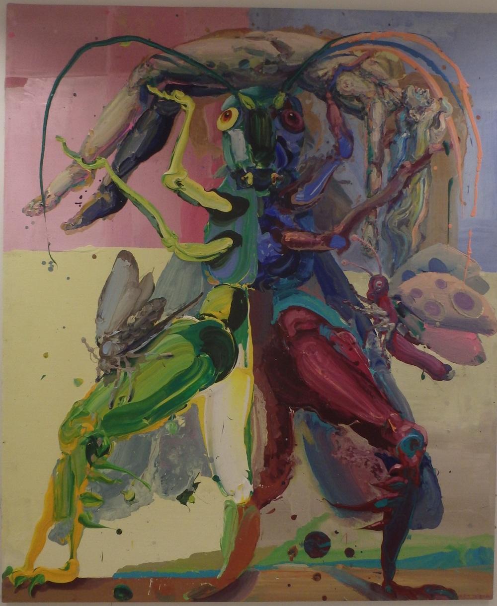 Michael Rittstein, Zdvih, 2015, plátno, akryl, 150 x 180 cm