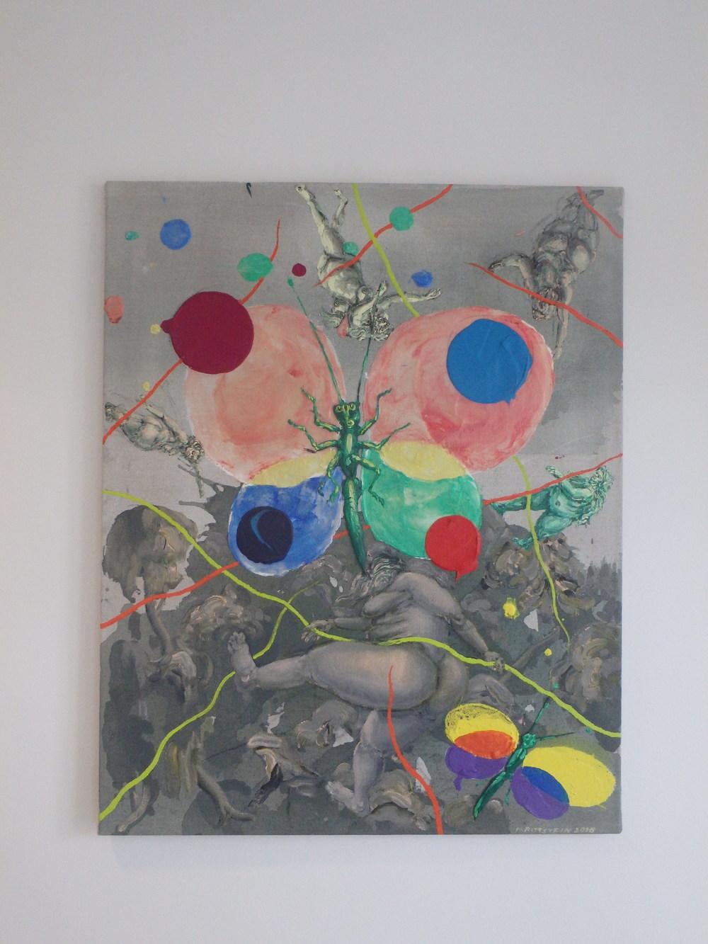 Michael Rittstein, Lehkosti motýla, 2016, plátno, akryl, 80 x 100 cm