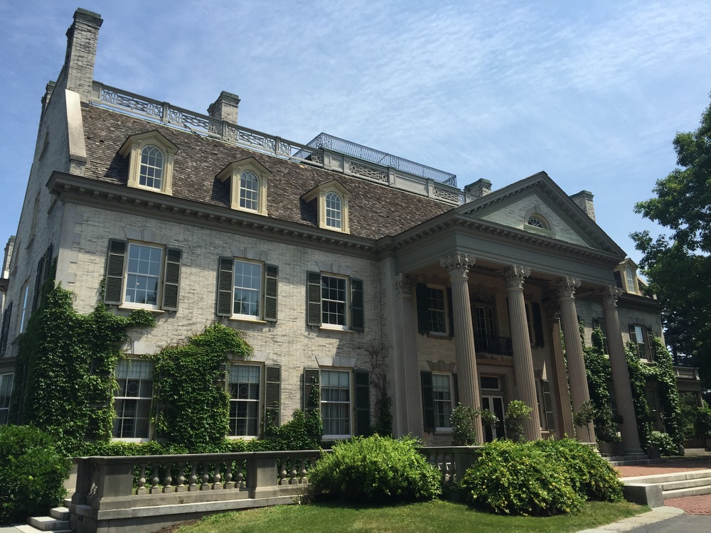 The mansion that George Eastman's Kodak built in Rochester, New York. (Photo by Dominique James)