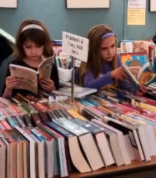The book sale has great selections for all ages!