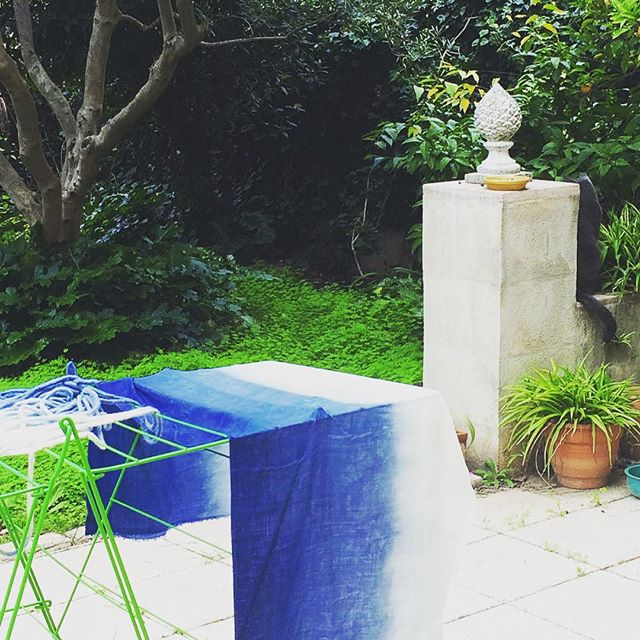Blue garden #indigo #vegetaldye #naturaldye #homemadedye #organicwool #frenchwool