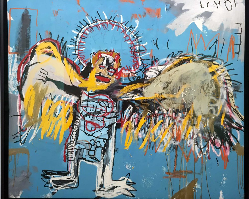 Jean-Michel Basquiat, Fallen Angel, 1981 - Photo H. Borderie