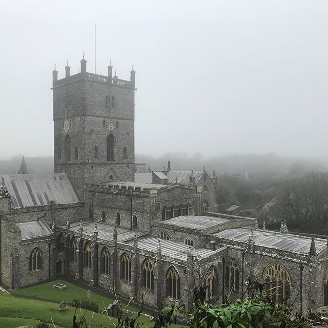 A misty day helping to make even more atmospheric at St Davids #wales #pembrokeshire