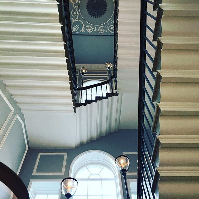 The beautiful staircase at the Royal Crescent hotel in Bath #bath #royalcrescent