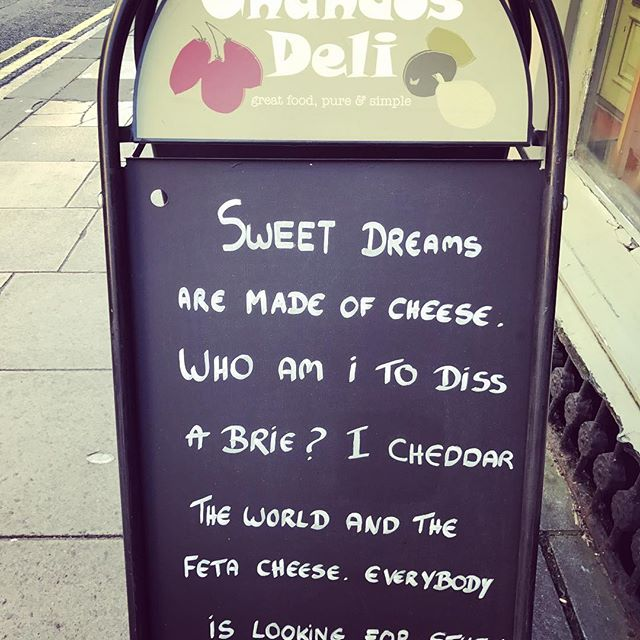 Impossible to walk past this and not have something to eat.  Delicious. #chandosdeli