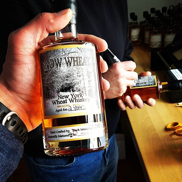 Our Snow Wheat Whiskey has officially been Musically Matured to classic holiday Carol's for over two years!  The latest batch has just been bottled, and music never tasted so good. 🥃🥃