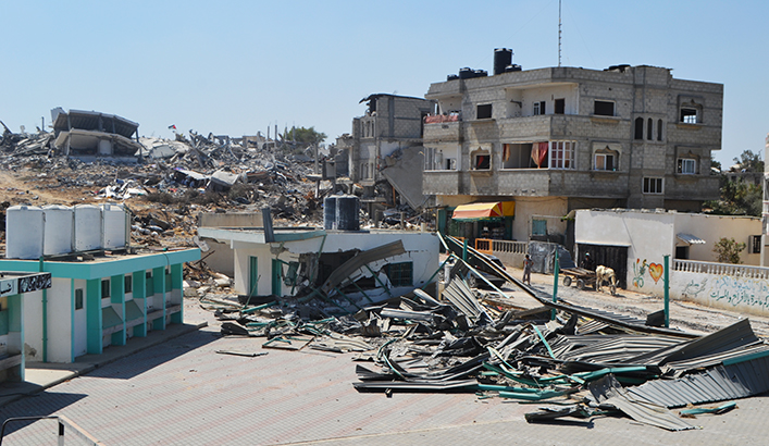 Damage to water and sanitation infrastructure resulting from the 2014 escalation in Gaza. Credit: Terre des Hommes Foundation