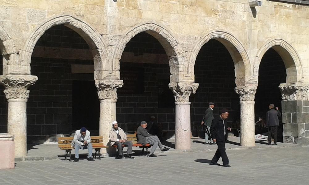 Inside Courtyard of Ulu Mosque, Diyarbakir, Turkey