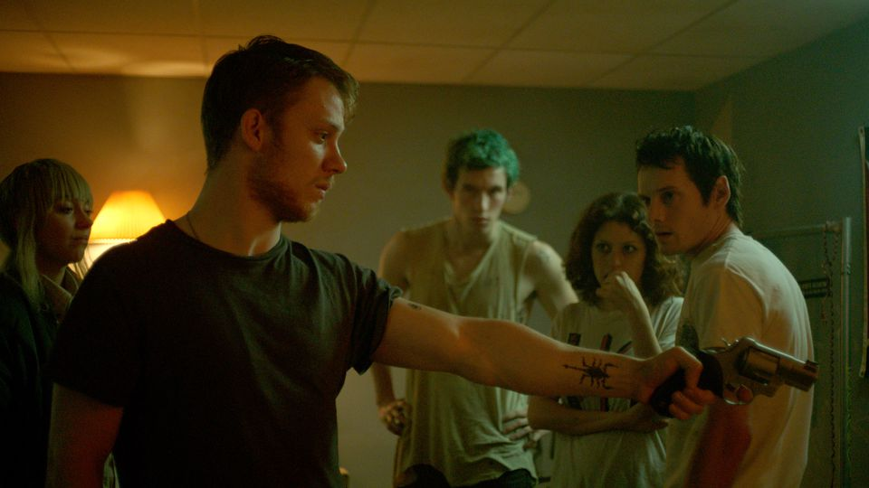 "Not for the faint of heart, ""Green Room"" is a sharp, bloody plunge into a culture of neo-nazi's from which a visiting rock band must extract themselves."
