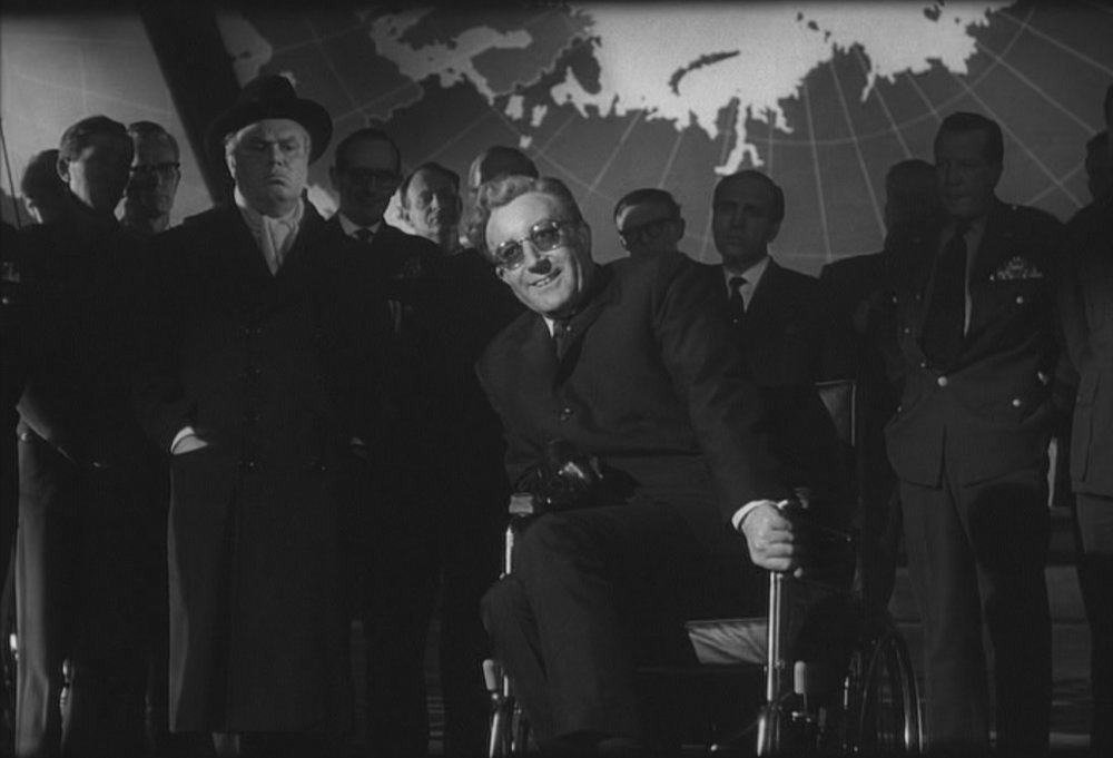 "TLR: ""Strangelove"" is a genius satire of MAD Theory (among other things) directed by the great Stanley Kubrick. The film perfectly tackles any number of issues about the Cold War, and does so in a funny, creative, and thoughtful way."
