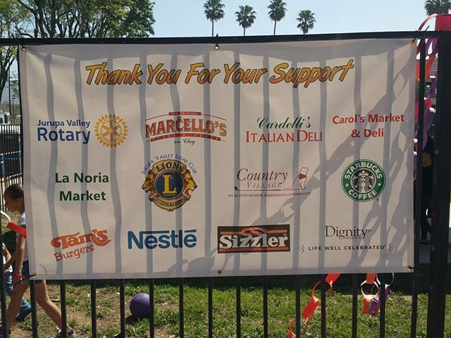 Thank you to all of our food sponsors who helped feed hundreds of volunteers on Thursday and Saturday. You gave the fuel that helped this playground be born.