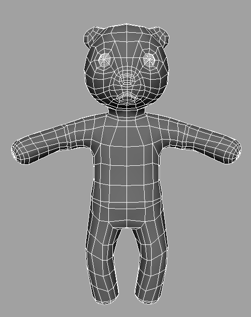 Low-poly Snuggle. Retopologized using 3D Coat.