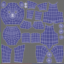 UV maps, unwrapped using 3D Coat.