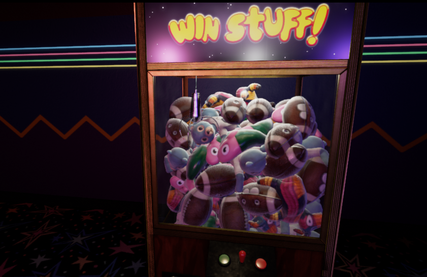 A funny picture showing what happens when you spawn 100 prizes and overcrowd the machine. Instant points as the stuffed animals fall down the chute!