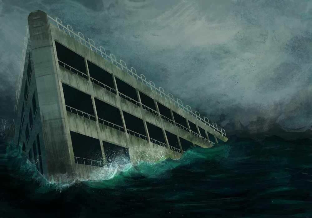 sinking-ship-parking-garage