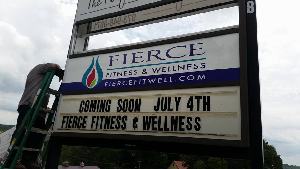 Fierce Fitness & Wellness signage design, by DahlHouse Design
