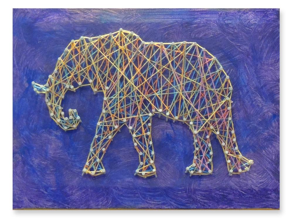 Hanging by a Thread - Sumatran Elephant