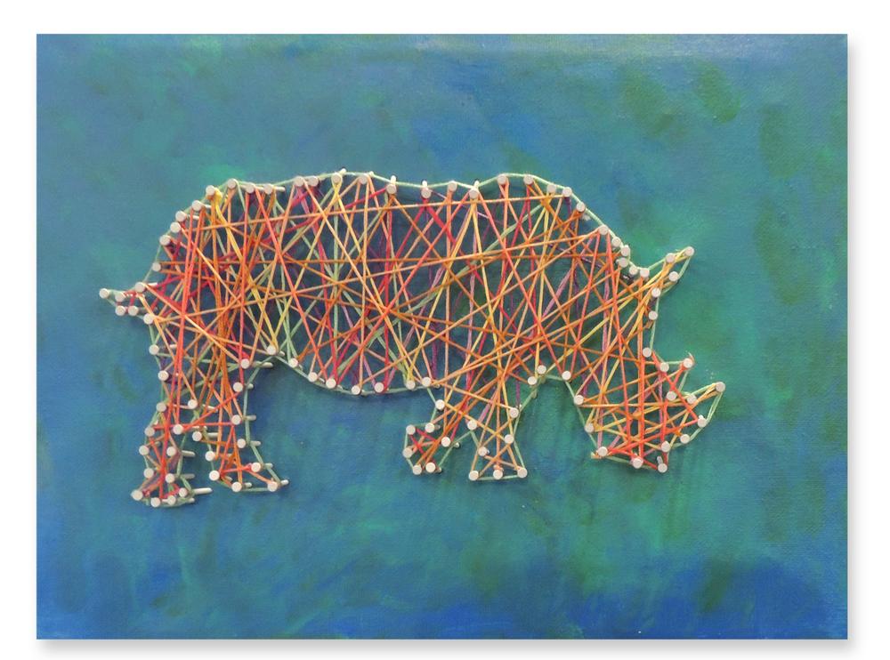 Hanging by a Thread - Sumatran Rhino