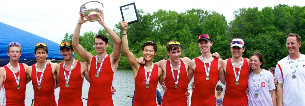 2015 IRA Championships, Mercer Lake, NJ.  Erik Johnson, stroke seat (third from right) Cornell University Lightweight Mens Varsity 8+