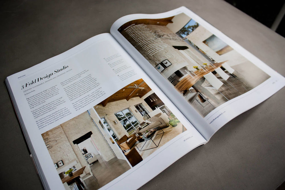 The Wimberley project was featured in the Summer 2012 issue of  Luxury Home Quarterly