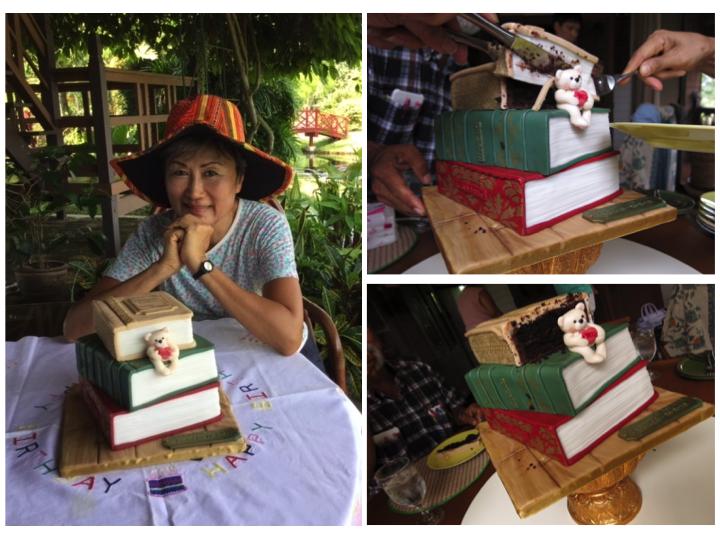 Stack of Books Cake - Customised Cake