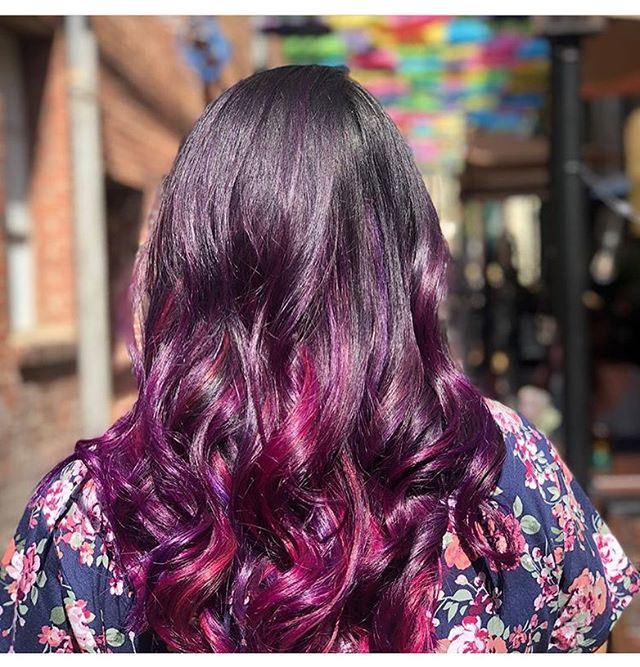 Let's add some color to your weekend  COLOR, CUT & Style by Brianda @_mane_bri_ ・・・ From virgin hair to awesome hair! I'm so in love with the way this came out 💜 big thanks to @cisnerosquad_5 for being my model today and baby James for sitting there patiently 👏#transformationthursday •lightened her with @redken flash lift and of course trusty @olaplex to keep her hair healthy 😉 •added @pravana locked in colors, finished her off with @igkhair car service and dirty spray new favorites!! #noboringhairever #pravana #saloncentric #violet #amethyst #wildorchid #btc #behindthechair #manesalonredlands #redlands #lomalinda #beaumont #yucaipa #fontana #yeshairdotcom #vivids #igkhair #fun #spring #summer #girlstuff