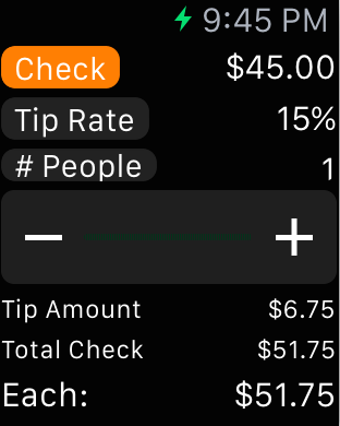 Select Bill Amount