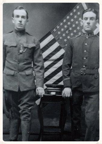 Patrick Rankin (left) in his Philadelphia National Guard's uniform, 1914.