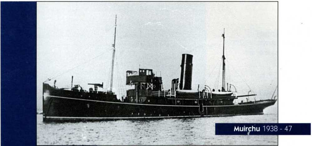 The newly refitted  Muirchu  circa 1938.