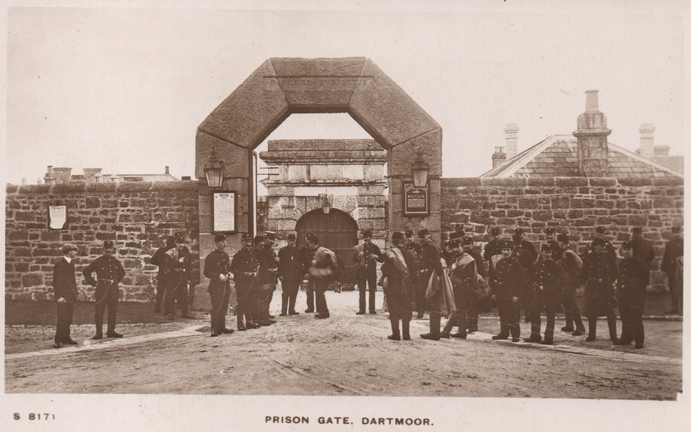 The prison gate at Dartmoor.