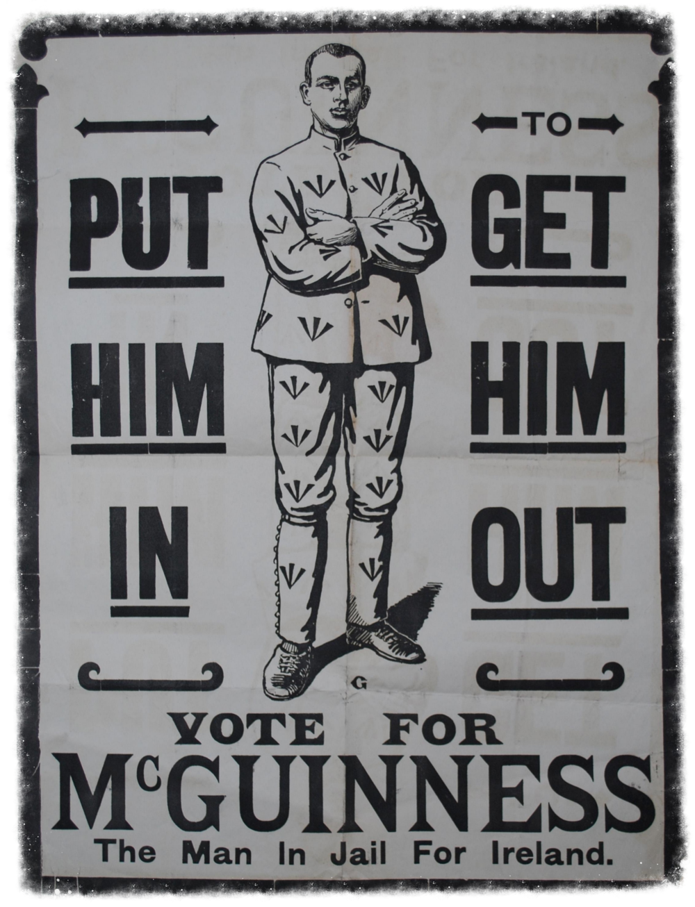 A 1917 election poster in support of Joe McGuinness.