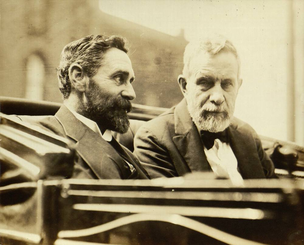 Roger Casement (left) with Clan na Gael leader John Devoy (right).