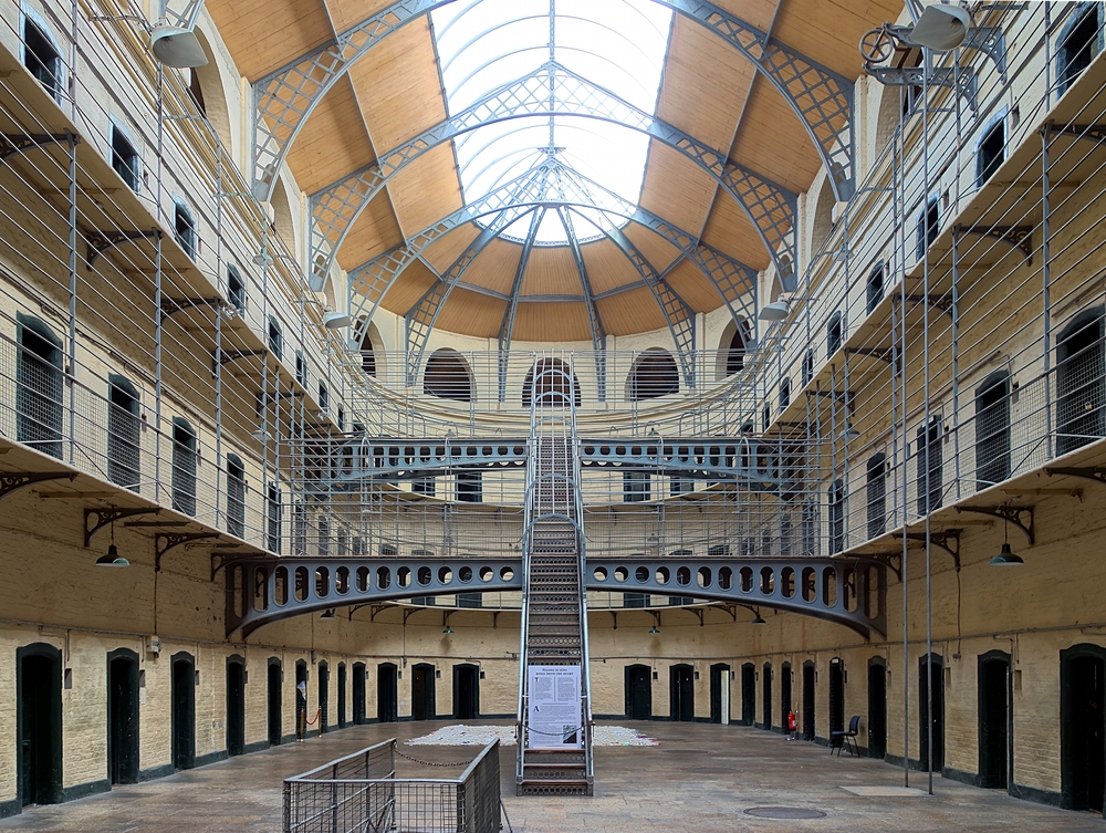 The main hall of Kilmainham Gaol as it looks today