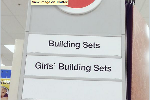Target Removes Gender Labels from Toy Aisle