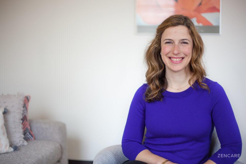 Dr. Amy Funkenstein, MDin her office in Belmont, Massachusetts