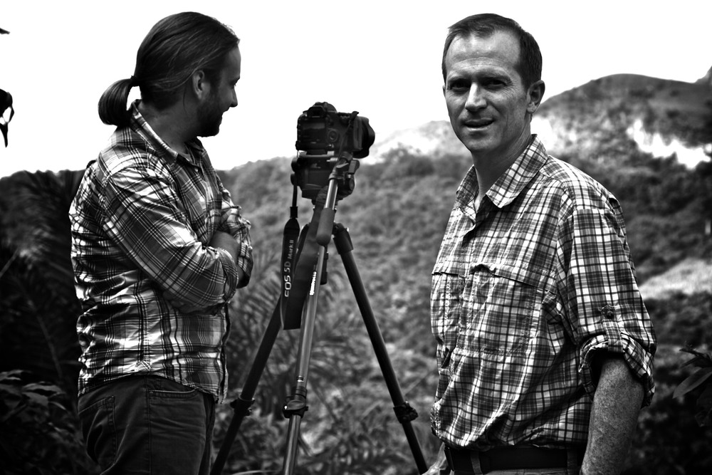Michael Matheson Miller and Simon Scionka (Director of Photography) capturing the beautiful landscapes of Ghana.