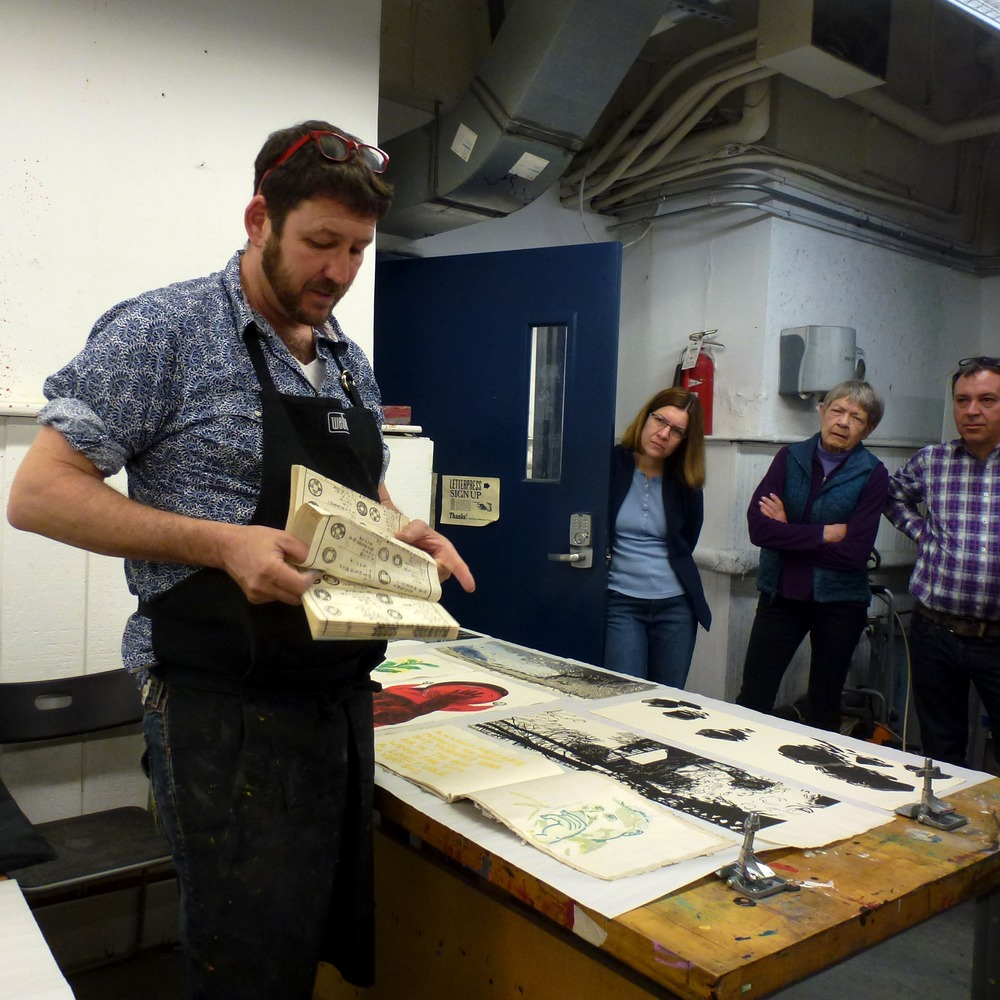 "Here Daniel demonstrates one common format for binding a Japanese book, called ""pouch binding (fukurotoji)."