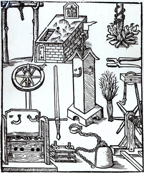 Figure 23: Frontispiece, Bambergische Halsgerichtsordnung, woodcut, 1507