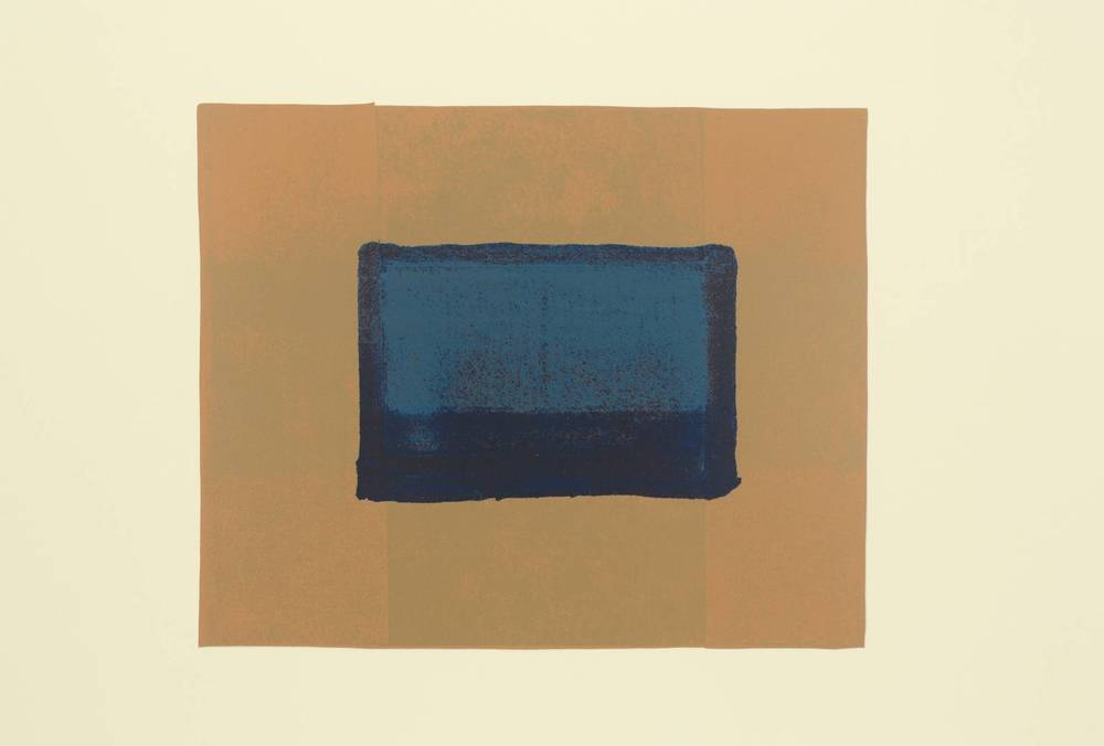 Howard Hodgkin, b. 1932,  Indian View A , screenprint on paper, 1971