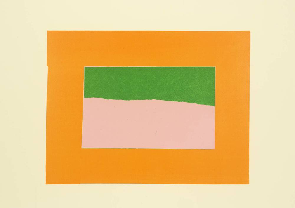 Howard Hodgkin, b. 1932,  Indian View B , screenprint on paper, 1971