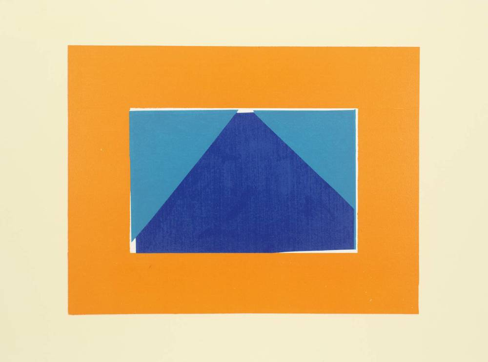 Howard Hodgkin, b. 1932,  Indian View C , screenprint on paper, 1971