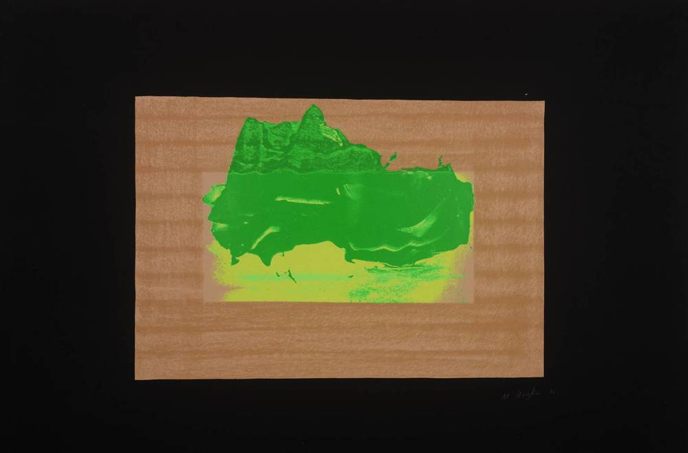 Howard Hodgkin, b. 1932,  Indian View D , screenprint on paper, 1971
